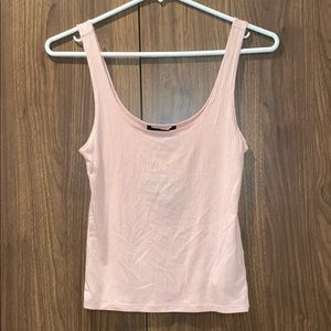 Forever 21 Pink Blush Ribbed Tank Top Peach NWT